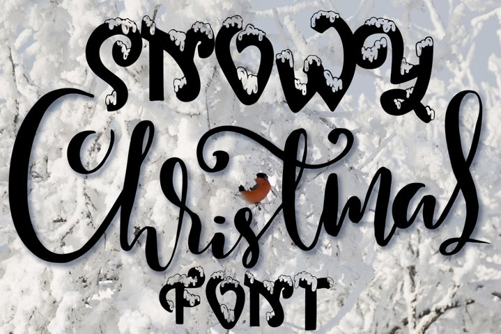 Snow-covered display font