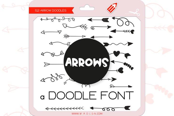 Arrow Doodles - Dingbats Font