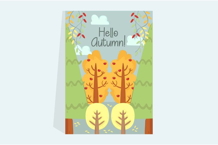 Autumn Forest Illustration Poster