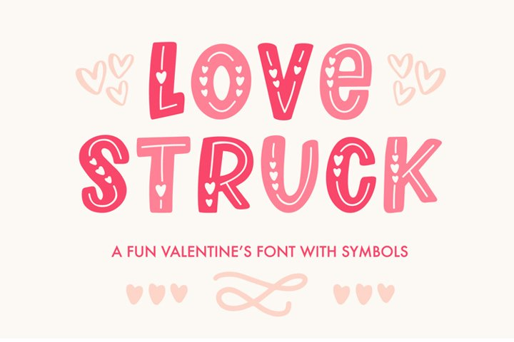 Love Struck, Thick Valentine's Heart Font - Free Font Of The Week Design7