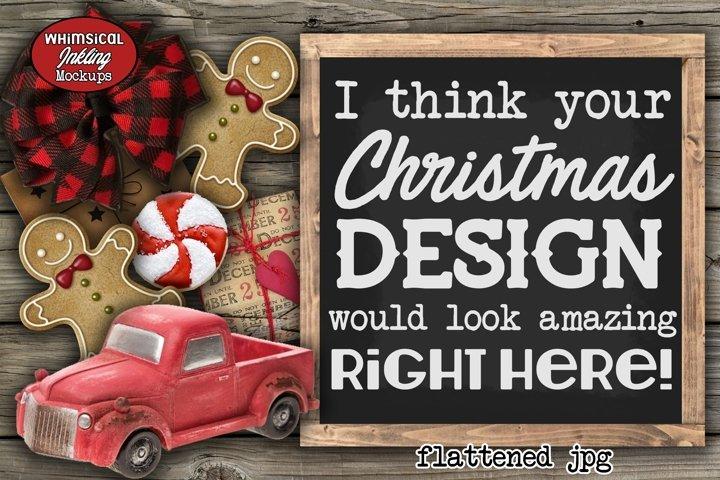 Vintage Christmas 2 Sign Mockup