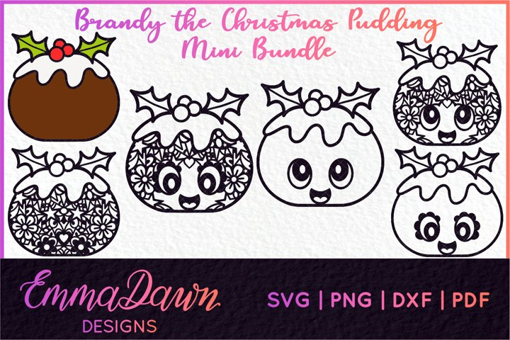 BRANDY THE CHRISTMAS PUDDING SVG MINI BUNDLE 6 DESIGNS