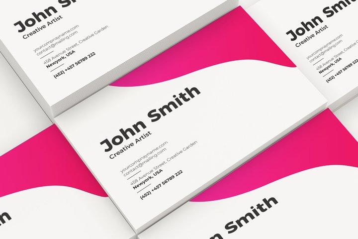 Set of Business Cards Mockup