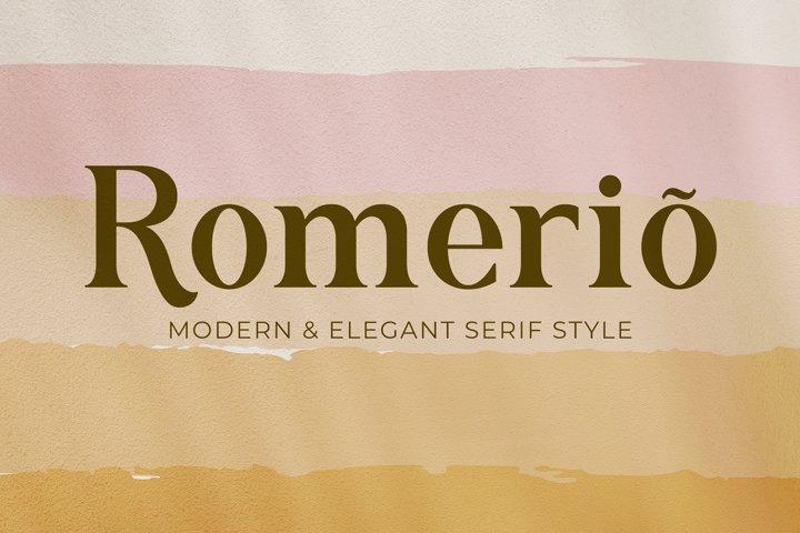 Romerio | Elegant Serif Style