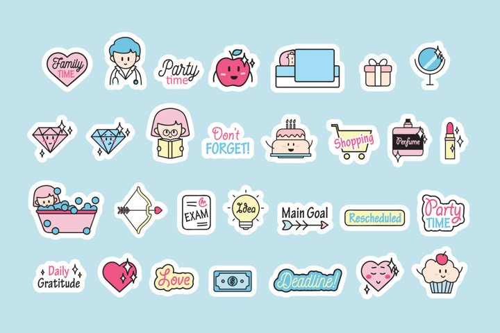 Download Free Planners Download Cute Planner Stickers Free Design Resources