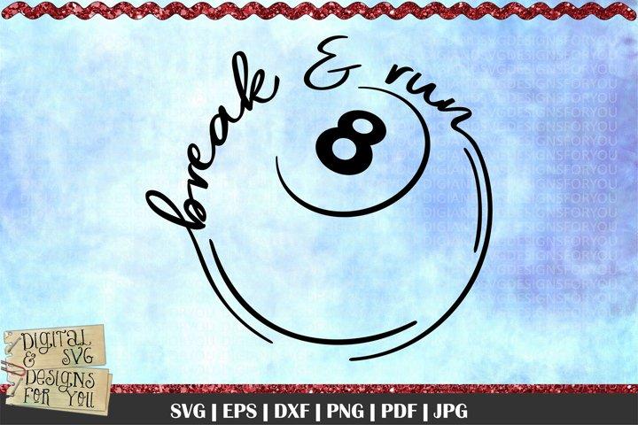 Pool Snooker svg   Break & run svg   Eight ball   Pool game