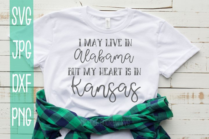 I may live in Alabama but my heart is in Kansas, SVG