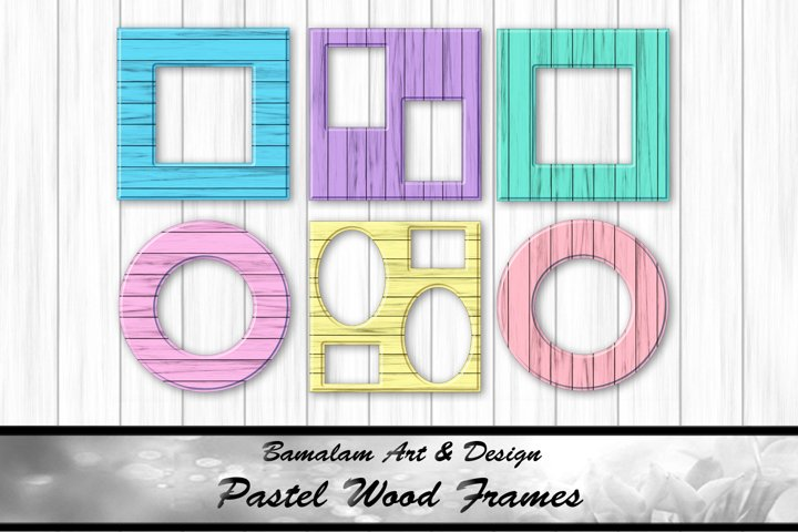 Pastel Coloured Wood Frame Overlays