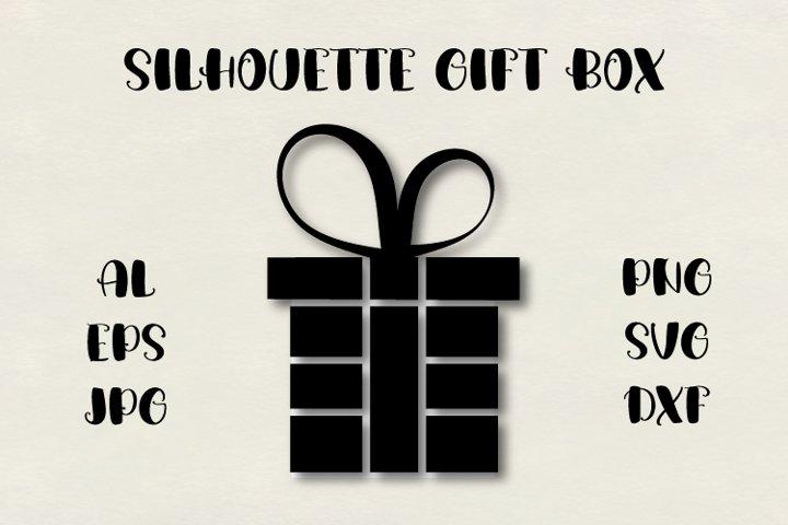 Gift silhouette SVG, gift box SVG, Christmas SVG