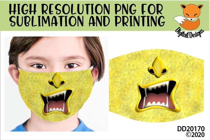 Monster Face Sublimation Design For Masks