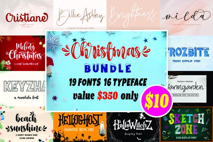 Christmas Font Bundle Collection