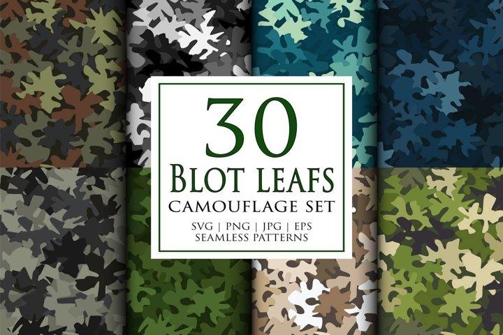 30 Vector digital camouflage masking seamless pattern set