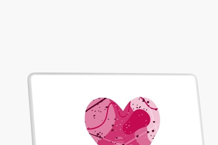 Pink abstract heart. Symbol of love. Valentine's day SVG example 4