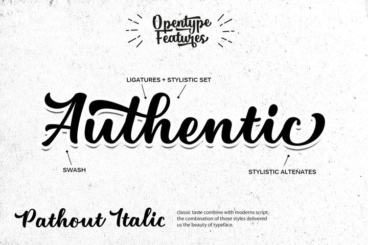 Pathout Script - Free Font of The Week Design2