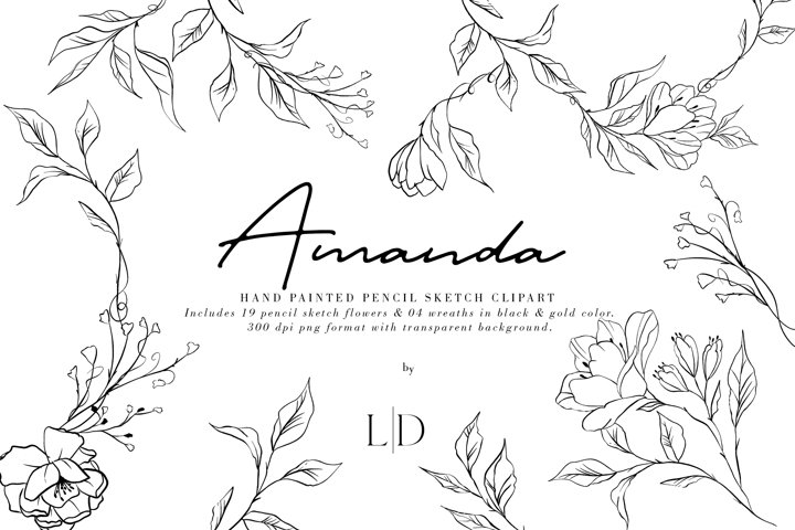 Amanda | Line Art