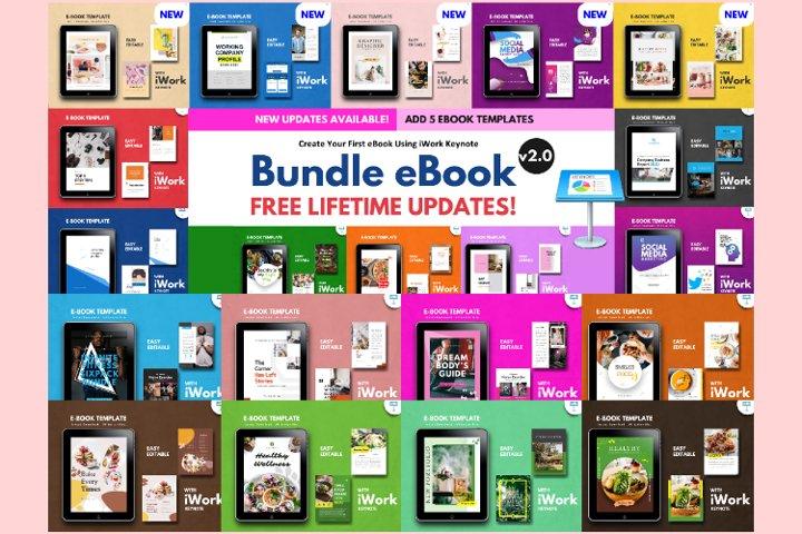 20 eBook Bundles v2.0 Template Editable Using iWork Keynote