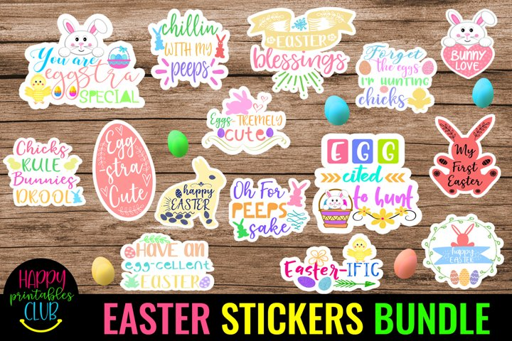 Easter Stickers Bundle Pack- Easter Stickers Printable Pack
