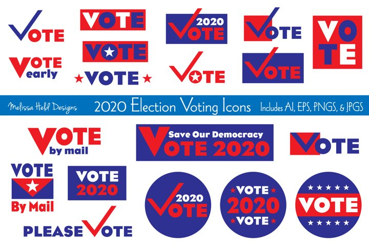 2020 Election Voting Icons