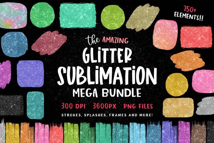 Glitter Sublimation Backgrounds Paint Brush Strokes