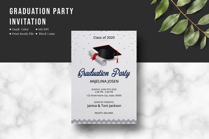 Graduation Party Invitation , Ms Word & Photoshop template