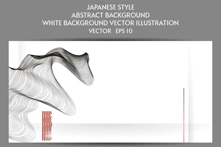 Abstract Japanese style white background with lines eps 10