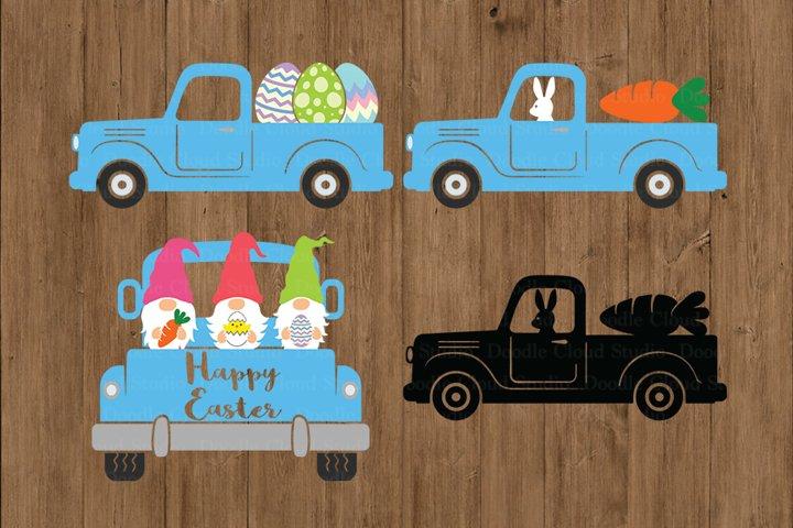 Easter Truck SVG, Easter Vintage Truck SVG Cut Files.