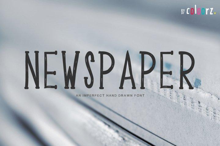 NEWSPAPER hand drawn font
