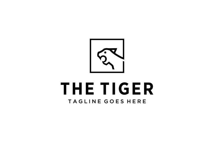 Creative tiger sign