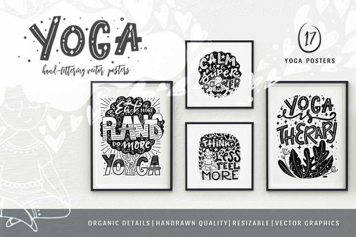 Vector Yoga Posters