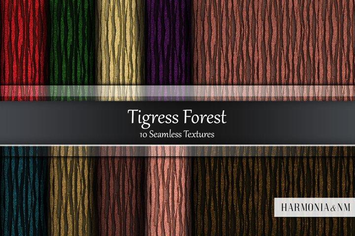 Tigress Forest 10 Seamless Textures
