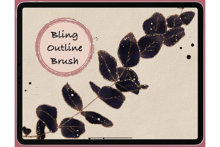 Procreate Bling Glitter Outline