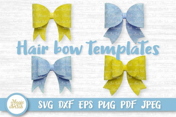 Hair bow template, Hair bow svg, Classic hair bow svg file