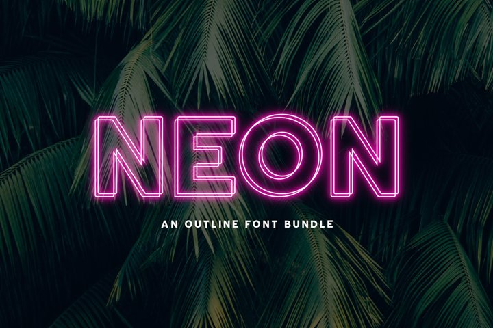 Neon | An Outline Font Bundle