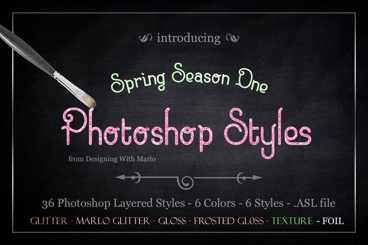 Spring Season One - Layered Photoshop Styles