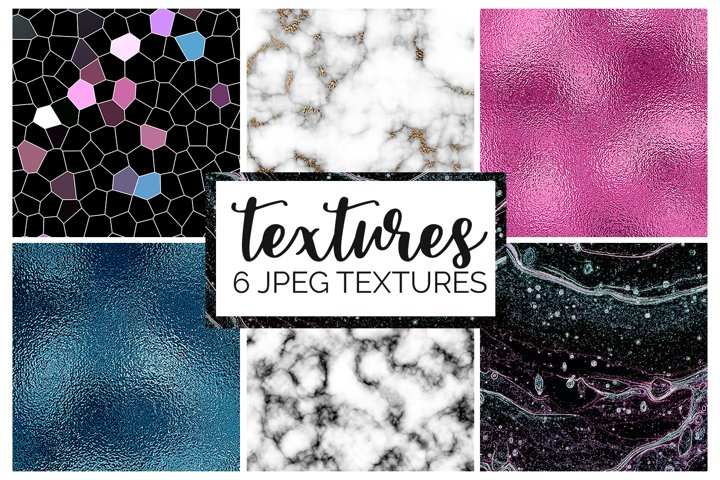 Marble and Foil Texture Digital Papers | Pink | Teal | JPEG