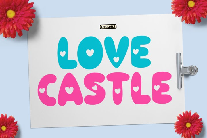 Love Castle - A Fun Display Font