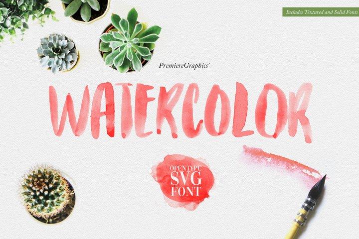 Watercolor Opentype-SVG Font