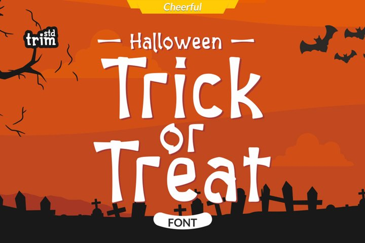 Halloween Trick or Treat - Spooky Quirky Font