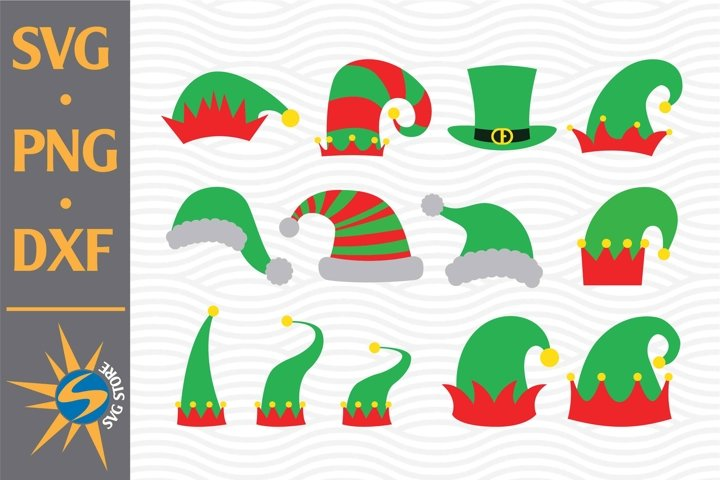 Christmas, Elf Hat SVG, PNG, DXF Digital Files Include