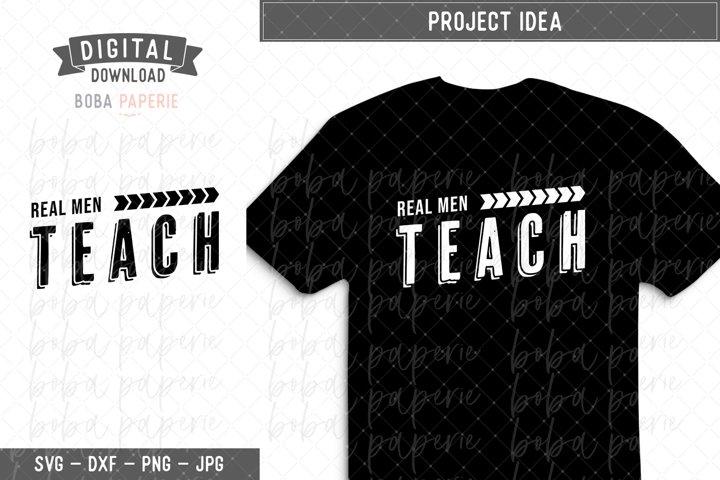 Real Men Teach SVG