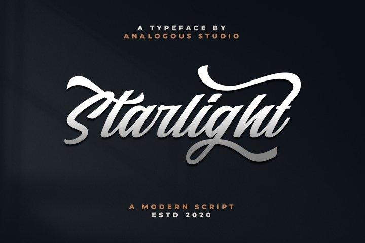 Starlight    Modern Script