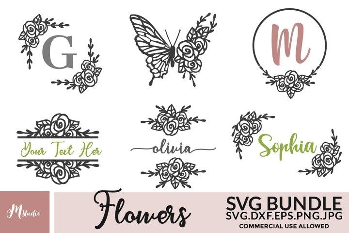 Flowers SVG Bundle. S7