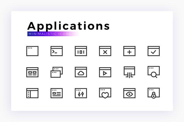 Applications Minimalist SVG Icon Set