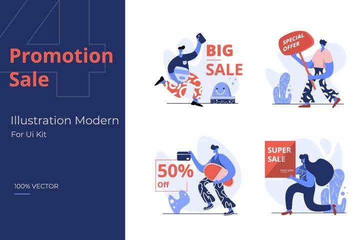 Flat Illustration of Promotion Sale
