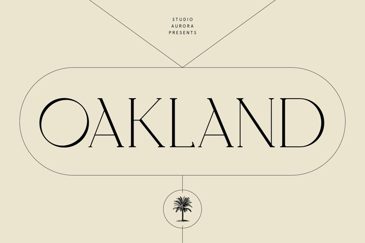 Oakland - Decorative Display Serif