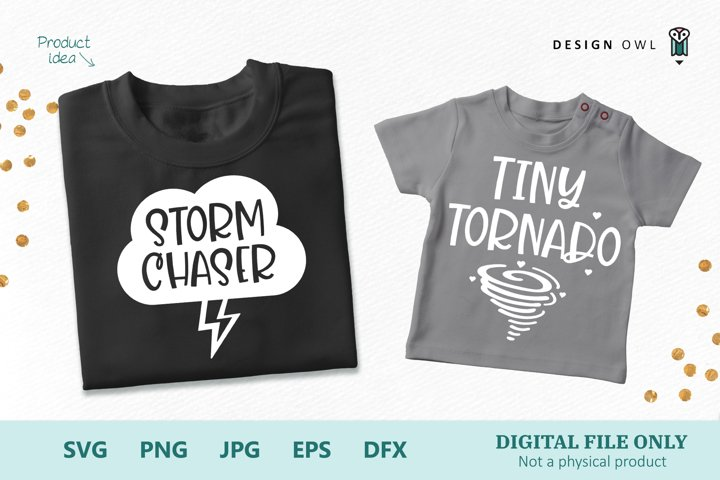 Storm Chaser - Tiny Torndado - Parent and Child SVG Files