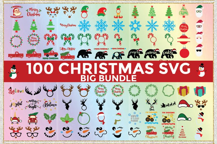 Big Christmas Bundle 100 SVG Cut Files