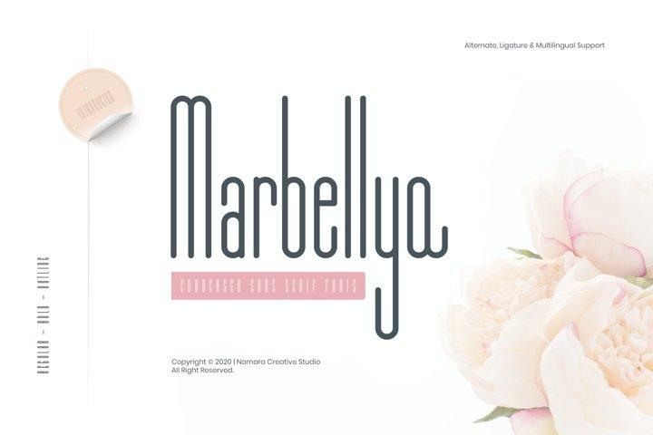 Marbellya Condensed Sans Serif Fonts