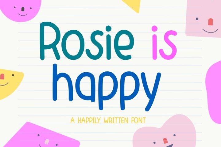 Rosie is happy