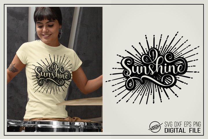 Sunshine SVG cut file